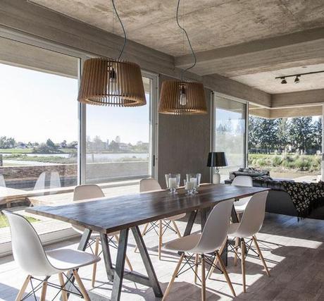 salon gris type loft