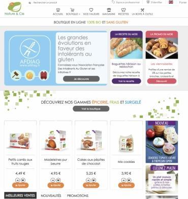 La marque de produits bio sans gluten Nature...