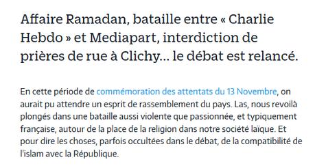 Le Parisien tord le bras à la #laïcité… pour lui faire détester l'Islam. #republicanistes