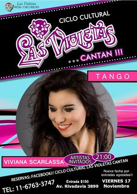 Ce soir Viviana Scarlassa à Las Violetas [à l'affiche]