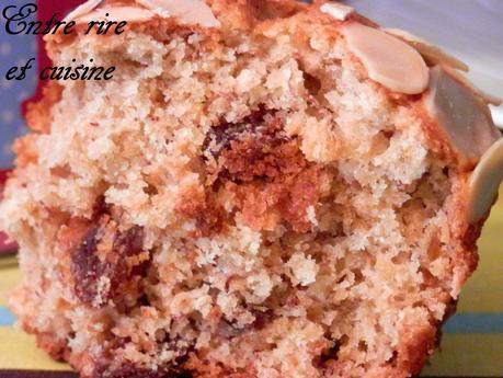 Muffins banane, flocons d'avoine et raisins secs
