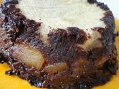 Pudding crémeux chocolat pommes poêlées