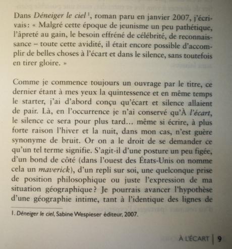 Introduction, A l'écart, André Bucher, éditions Le mot et le...