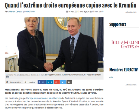 #Poutine et la #fachosphère européenne, une grande histoire d'amour #antifa