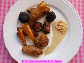 Légumes d'hiver confits et sauce à la cacahuète (Vegan)