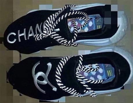 b9a761cd27844 Chanel x Pharrell x Adidas NMD Hu Trail Black White  u2013 Vencias