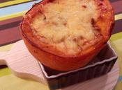 Potimarron farci viande hachée, sauce tomate champignons