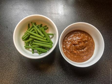 Shojin ryori – Haricots verts sauce miso aux noix