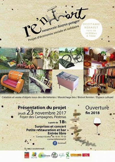 Pézenas – Présentation Du Projet Re'N'art le 23 novembre