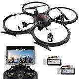 Drone Avec Caméra HD720P Vidéo En Direct WIFI FPV VersionU818A Quadcoptère RC Avec Mode Headless Contrôle Facile Pour Des gamins Les Débutants