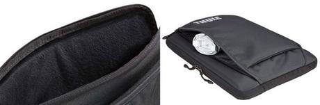 Intérieur en peluche et poches pour ranger tous les accessoires