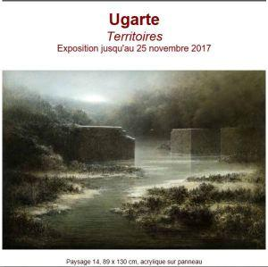 Galerie Schwab Beaubourg  exposition  UGARTE « Territoires » jusqu'au 25 Novembre 2017
