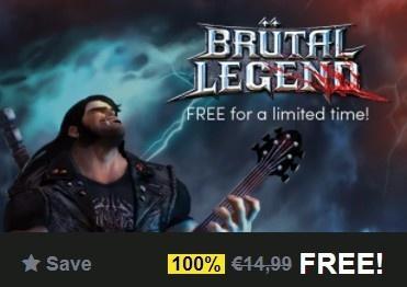 (Bon plan) Brütal Legend - Gratuit sur PC en dématérialisé - Steam
