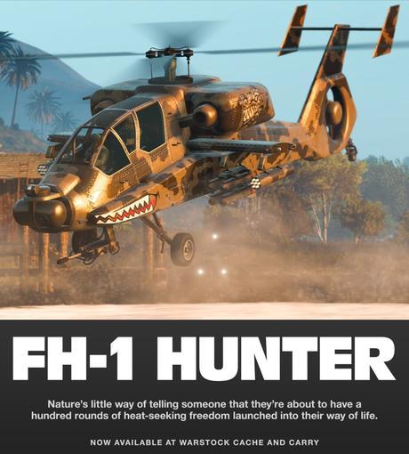 L'hélicoptère FH-1 Hunter est disponible dans GTA Online