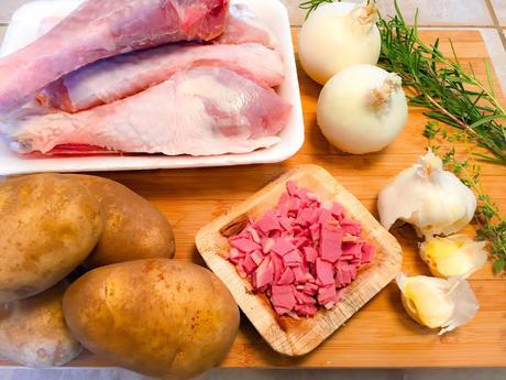 Cuisses de Dinde et Pommes Boulangères Au Four