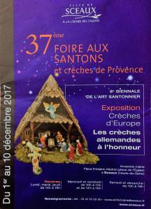 37 me Foire aux Santons et crèches de Provence à SCEAUX   1er au 1O Décembre 2017