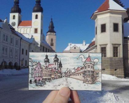 Illustrations de voyage par Maxwell Tilse