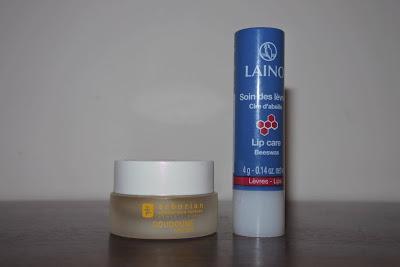Soins des lèvres : Doudoune for Lips d'ERBORIAN vs soins des lèvres cire d'abeille LAINO