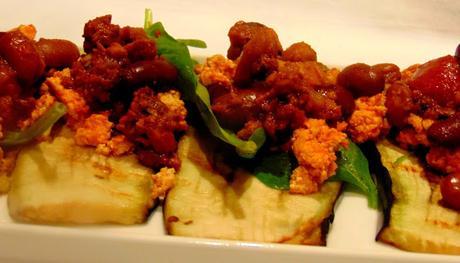 Bruschetta d'aubergine