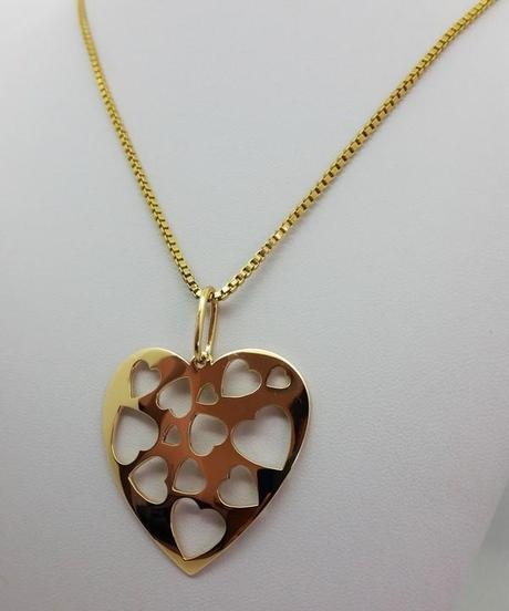 pendentif coeur or 18 carats