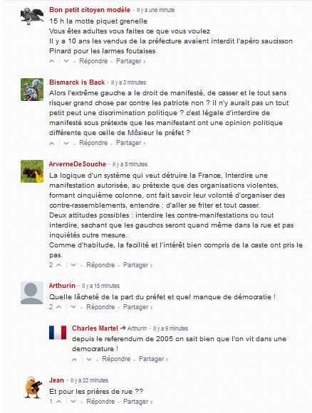 les #identitaires (comprendre néo-nazis) privés de sortie. Comme je suis triste… #oupas #antifa