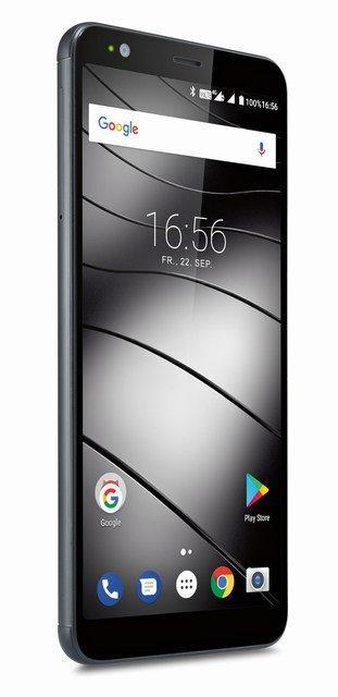 Smartphone Gigaset GS370 avec écran 18:9, lecteur d'empreinte et double capteur photo