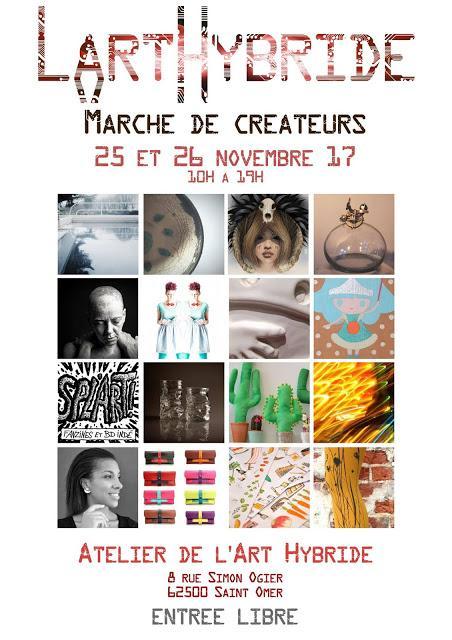 Marché de créateurs de L'Art Hybride à Saint-Omer