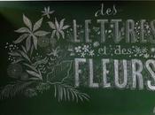 lettres fleurs..... avec Marine Porte Sainte-Marie