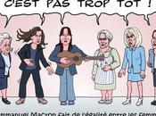 Macron garant l'égalité entre femmes hommes
