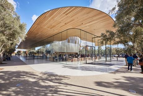 Apple Park : Un pavillon dédié aux visiteurs