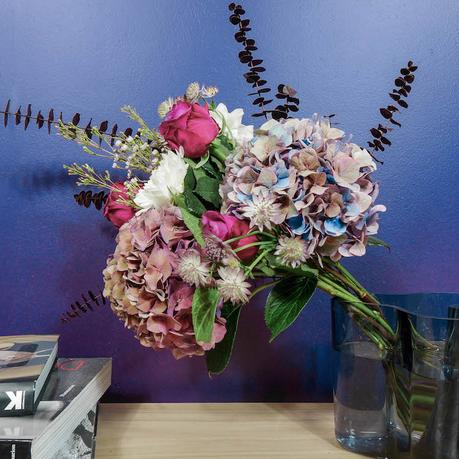 bouquet fleurs violet bloom and wild vase iittala
