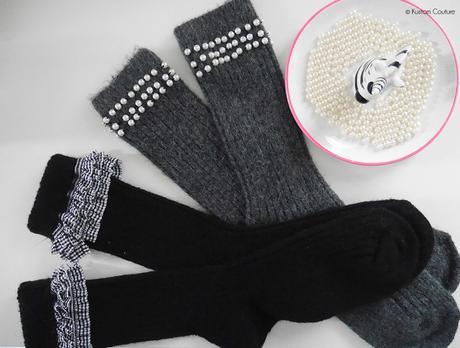 DIY mode – 2 customisations de chaussettes