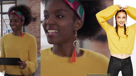 DEMAIN NOUS APPARTIENT : le pull jaune moutarde de Gwen dans l'épisode 96