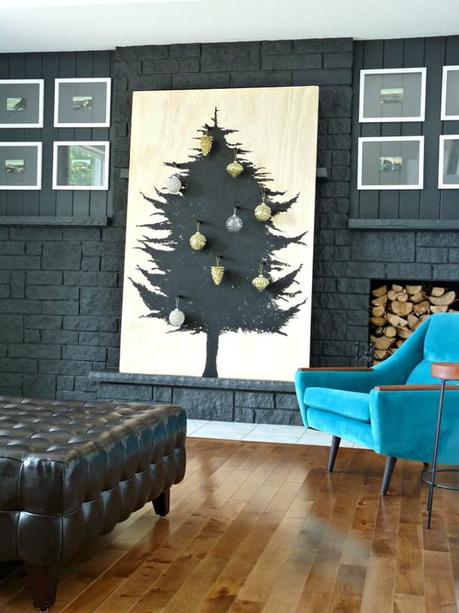 DIY sapin de Noel decoration mural