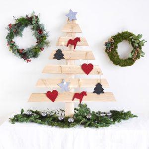 DIY sapin de Noël en bois parquet upcycling