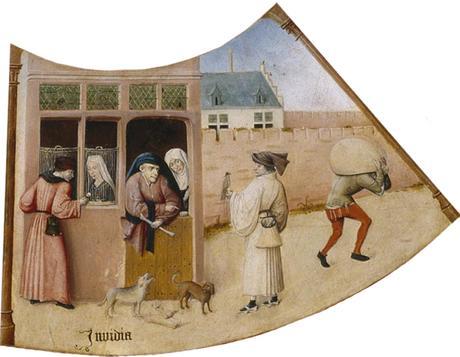 Bosch Invidia Table des 7 peches capitaux vers 1500 Museo del Prado, Madrid
