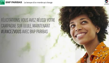 Offre BNP Paribas aux porteurs de projet sur Ulule
