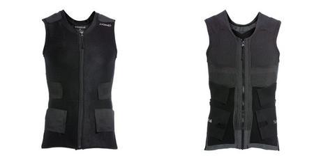 Anodyne -T-Shirts sans manches avec zip pour maintien personnalisable et post blessure