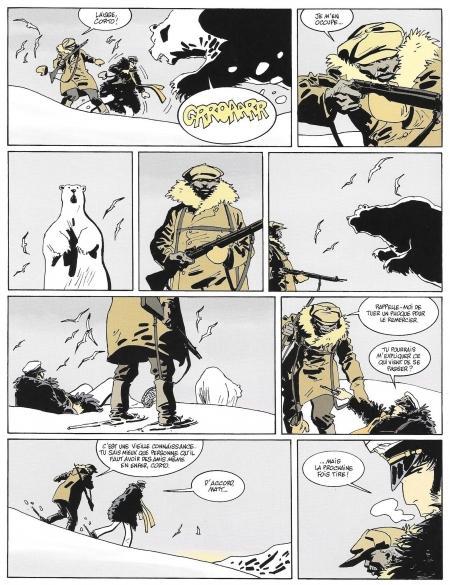 Page couleur de Corto Maltese T13 Sous le soleil de Minuit de Canales Diaz et Pellejero chez Casterman