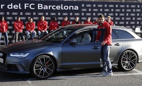 Quand Audi souhaite un joyeux noël aux joueurs du Real et du Barca