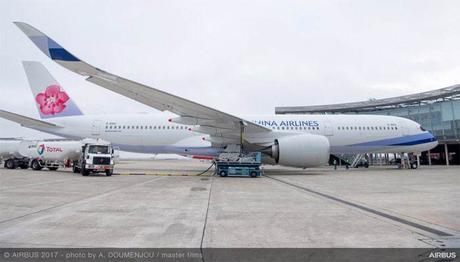 China Airlines réceptionne un A350 XWB utilisant un mélange de biocarburants