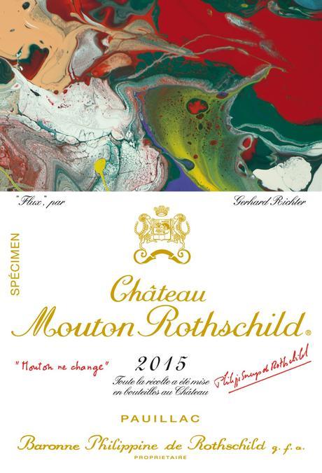 Château Mouton Rothschild 2015 : nouvelle étiquette, nouvelle signature