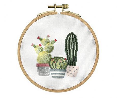 Kit de broderie cactus