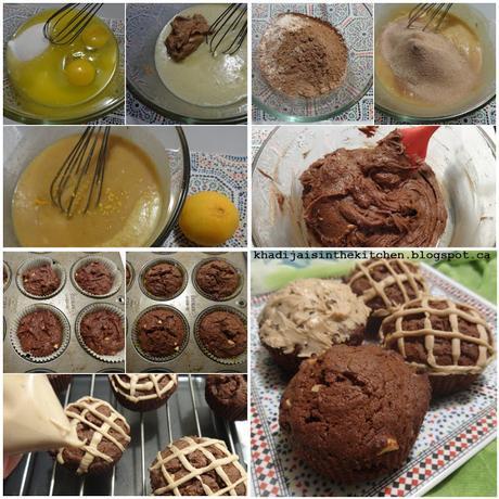 MUFFINS AU CHOCOLAT ET AU BEURRE D'ARACHIDE / CHOCOLATE PEANUT BUTTER MUFFINS /MUFFINS DE CHOCOLATE Y MANTEQUILLA DE MANÍ /مافن الشوكولاطة و زبدة الفول السوداني