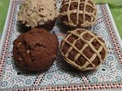 Muffins chocolat beurre d'arachide chocolate peanut butter muffins /muffins mantequilla maní /مافن الشوكولاطة زبدة الفول السوداني
