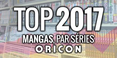 Top 10 des ventes annuelles de mangas au Japon en 2017, par séries