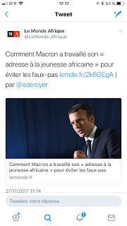 552ème semaine politique: le sketch de Macron l'Africain.