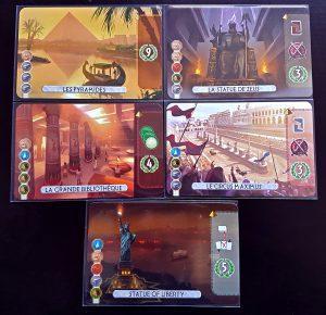 7 wonders  Duel, la version 2 joueurs du célèbre jeu édité par Repos Production