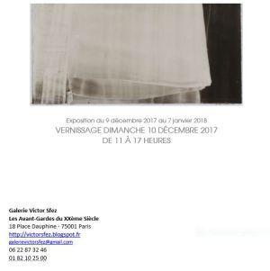 Galerie Victor Sfez   exposition Bénédicte Dussère « L'ombre claire » le 10 Décembre 2017