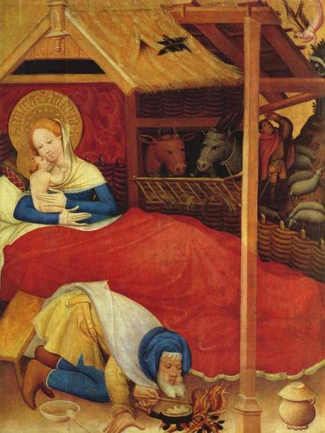 Nativite Conrad_von_Soest_ Niederwildungen Altarpiece